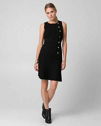 Viscose Blend Crew Neck Dress