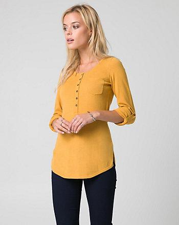 Cotton Henley Sweater
