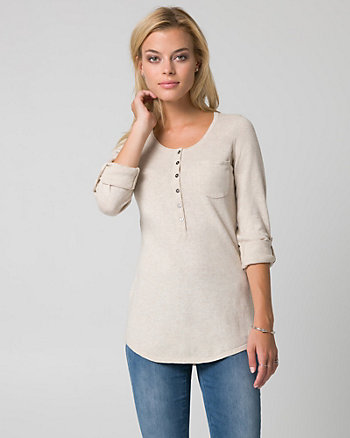 Cotton Henley Sweater