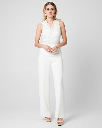 Lace & Tricoteen V-Neck Jumpsuit