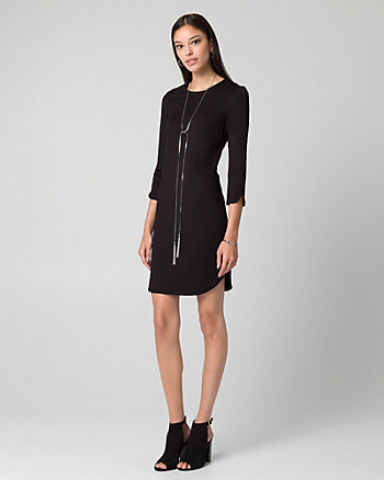 Ponte Crew Neck Tunic Dress