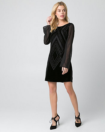 Burnout Velvet Boat Neck Tunic