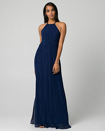 Mesh Halter Gown