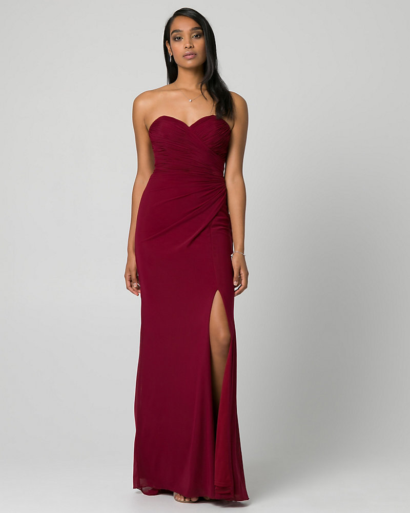 Mesh Sweetheart Gown   LE CHÂTEAU