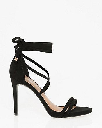 Nubuck Leather-Like Ghillie Tie Sandal