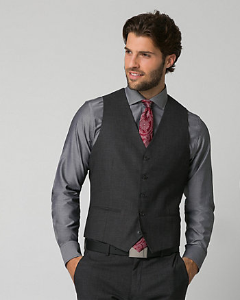Tonal Crosshatch Contemporary Fit Vest