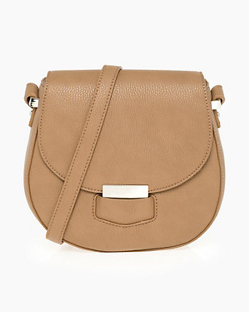 Leather-Like Saddle Bag