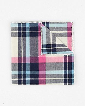 Check Print Cotton Pocket Square