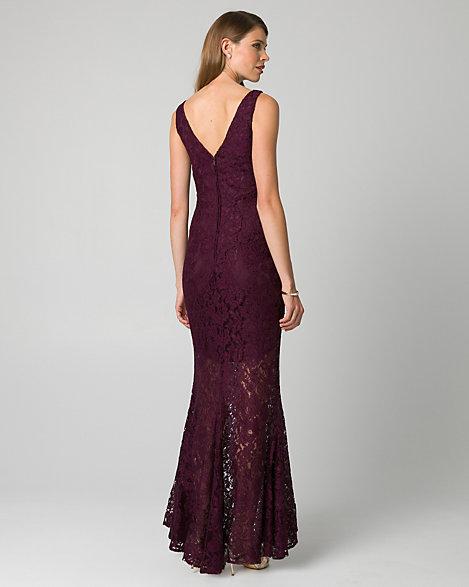 Guipure Lace V-Neck Gown | LE CHÂTEAU