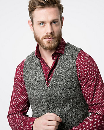 Tonal Tweed City Fit Vest