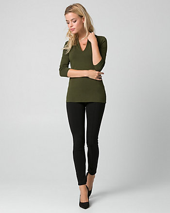 Viscose Built-Up V-Neck Top
