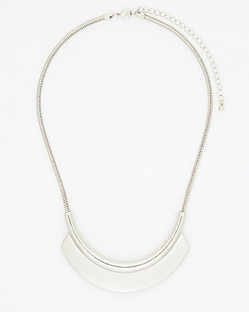 Metal Plate Necklace