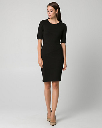 Ponte Crew Neck Banded Dress