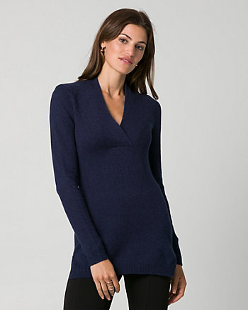 Bouclé V-Neck Sweater