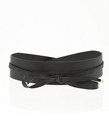 Leather-Like Obi Belt