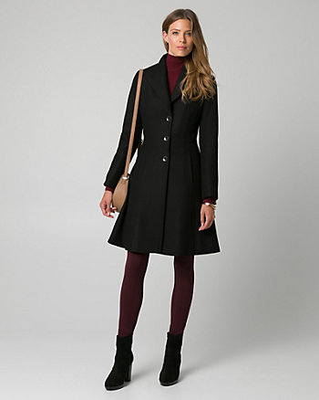 Melton Notch Collar Coat