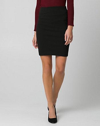 Knit Crêpe Pencil Skirt