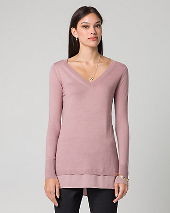 Cashmere Blend V-Neck Sweater