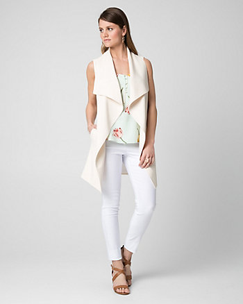 Crêpe Waterfall Vest