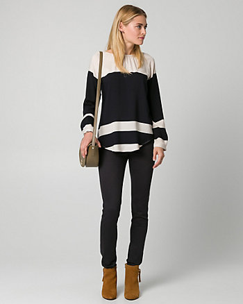 Stripe Challis Blouse