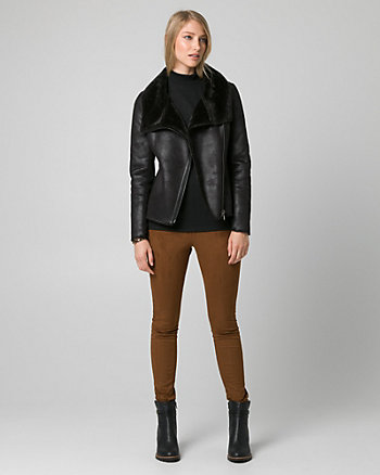 Bonded Suede-Like Asymmetrical Jacket