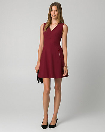Knit V-Neck Mini Dress