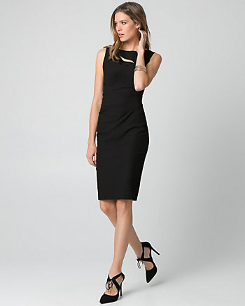 Tech Stretch Boat Neck Shift Dress