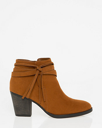 Suede-Like Almond Toe Boot