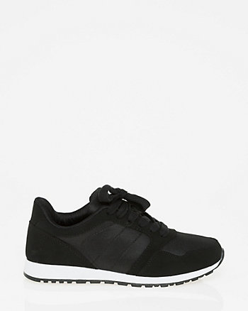 Faux Leather & Mesh Sneaker