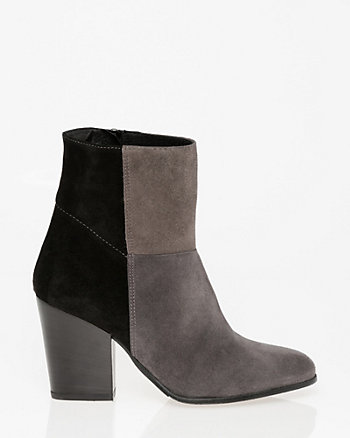 Italian-Made Suede Almond Toe Ankle Boot
