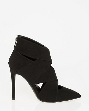 Suede-Like Pointy Toe Shootie