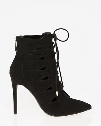 Suede-Like Ghillie Tie Shootie