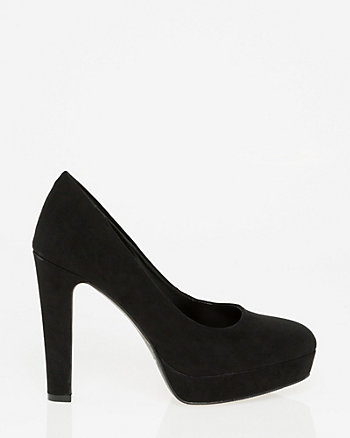 Faux Suede Almond Toe Pump