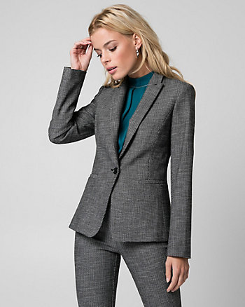 Tweed Notch Collar Blazer