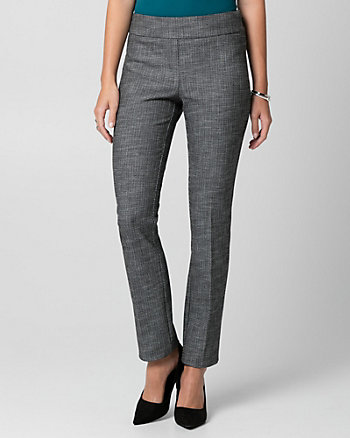 Tweed Straight Leg Pant