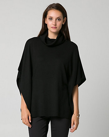 Knit Cowl Neck Poncho Top