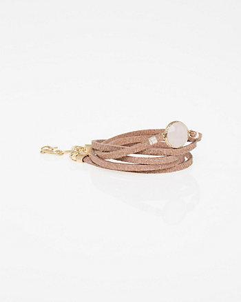 Gem Faux-Suede Bracelet