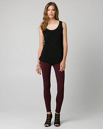 Viscose Blend Scoop Neck Tank Top