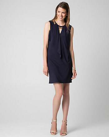 Knit Scoop Neck Trapeze Dress