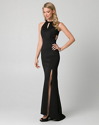 Scuba Knit Cutout Gown