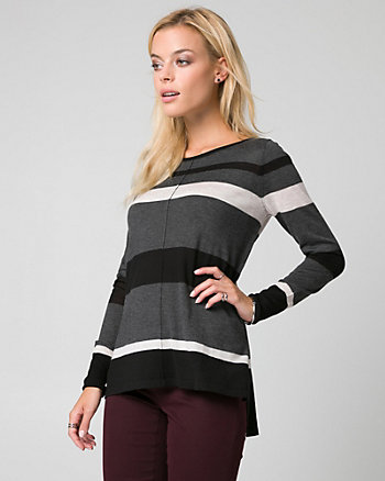 Viscose Blend Boat Neck Sweater