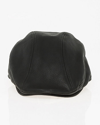 Textured Leather-Like Ivy Cap