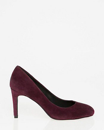 Suede Almond Toe Pump