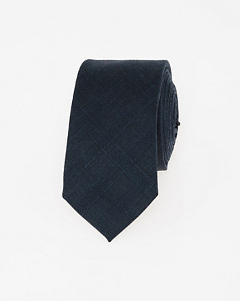 Italian-Made Wool Skinny Tie