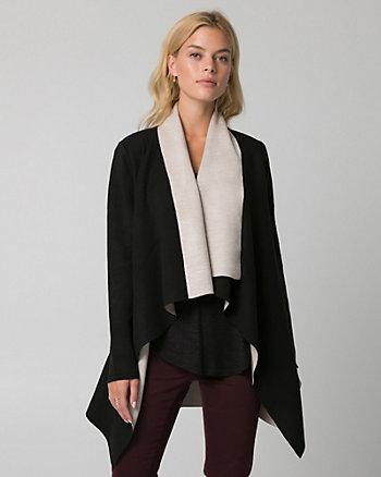 Colour Block Knit Sweater Coat