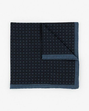 Italian-Made Wool Pocket Square