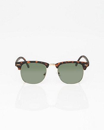 Matte Plastic & Metal Sunglasses
