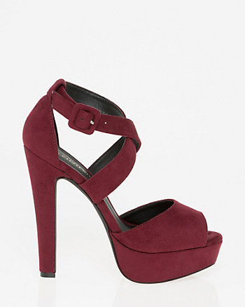 Suede-Like Criss-Cross Platform Sandal