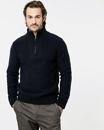 Cotton Mock Neck Sweater