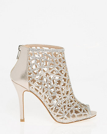 Jewelled Metallic Foil Cage Shootie